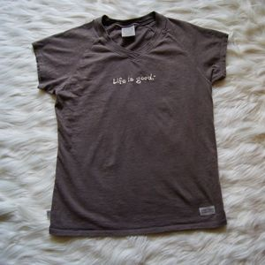 Life Is Good Womens Tee V- Neck Medium T-Shirt
